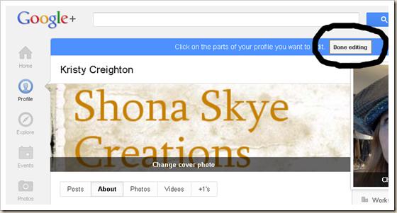 Shona Skye Creations - Enable Replies with Google  Profile 005