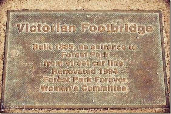 Victorian Footbridge, Forest Park, St. Louis, MO