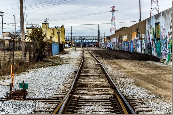 Broadway and Sidney Streets Railroads Train Tracks and Graffiti in St. Louis MO