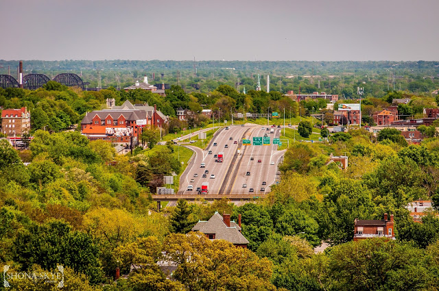 Compton Hill Water Tower, St. Louis, MO, Missouri, historic, architecture, interstate highway